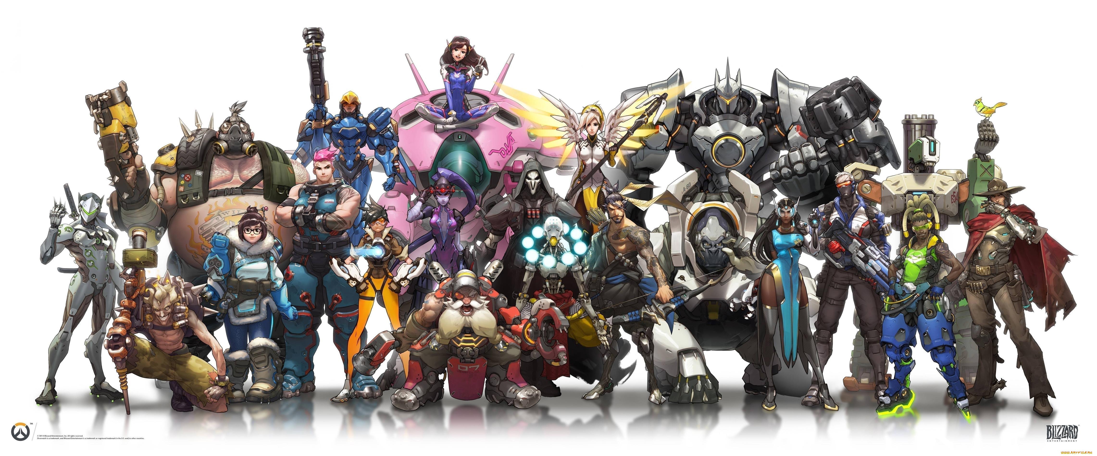 Фото всех персонажей из овервотч